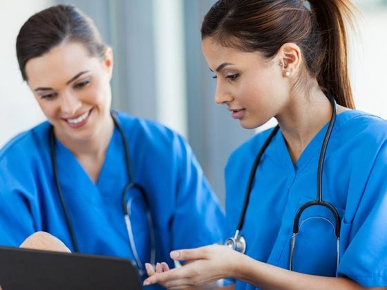Healthcare workers using Medwing