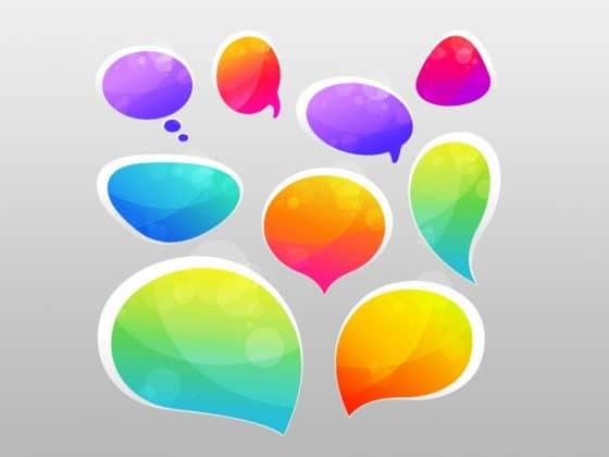speech bubbles to convey telemedicine