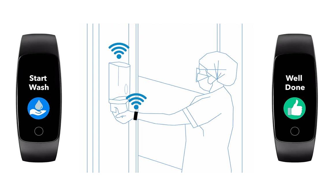Vitalacy hand hygiene monitoring technology