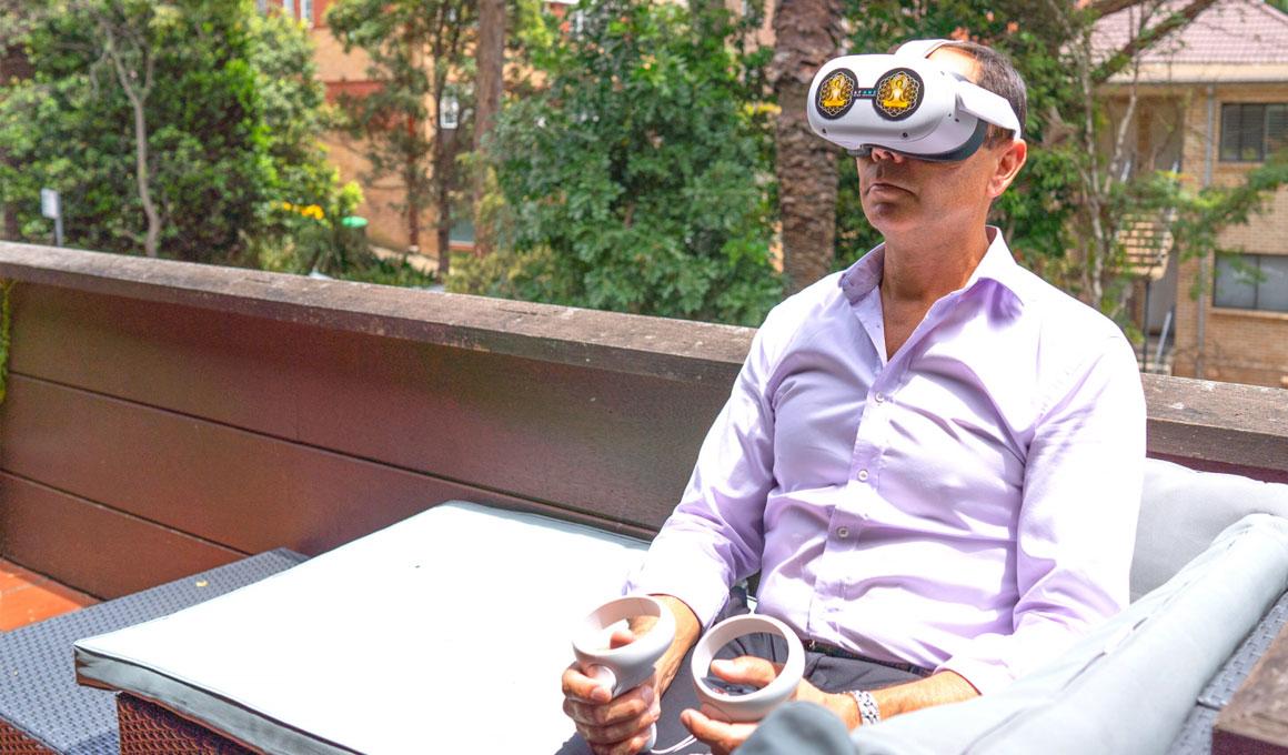 AtOne - VR mindfulness & meditation app in use