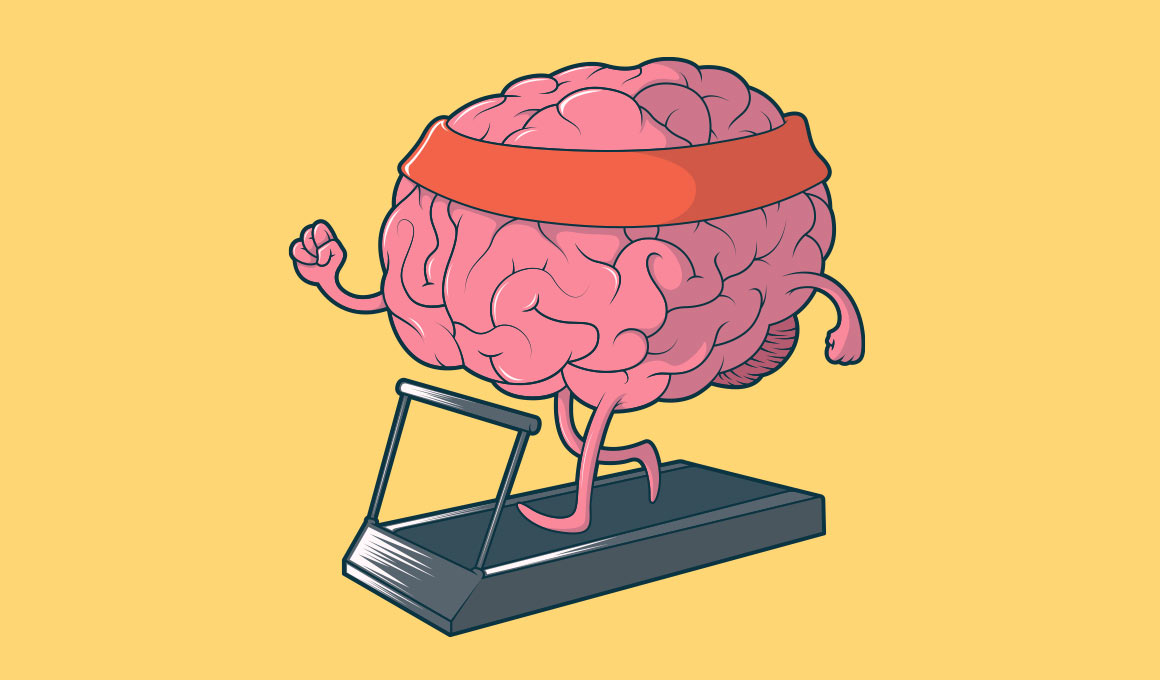 Training brain for mental health illustration