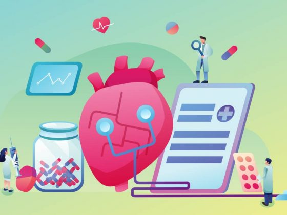Remote cardiac monitoring illustration