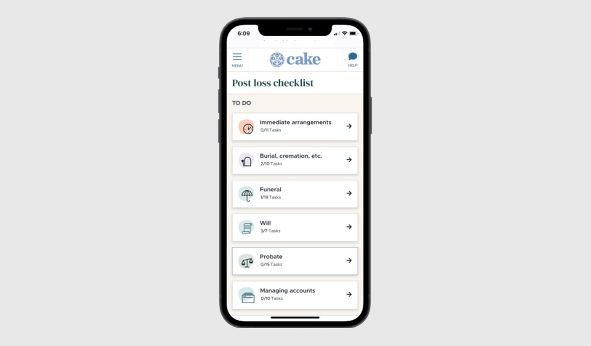 Cake end-of-life planning app